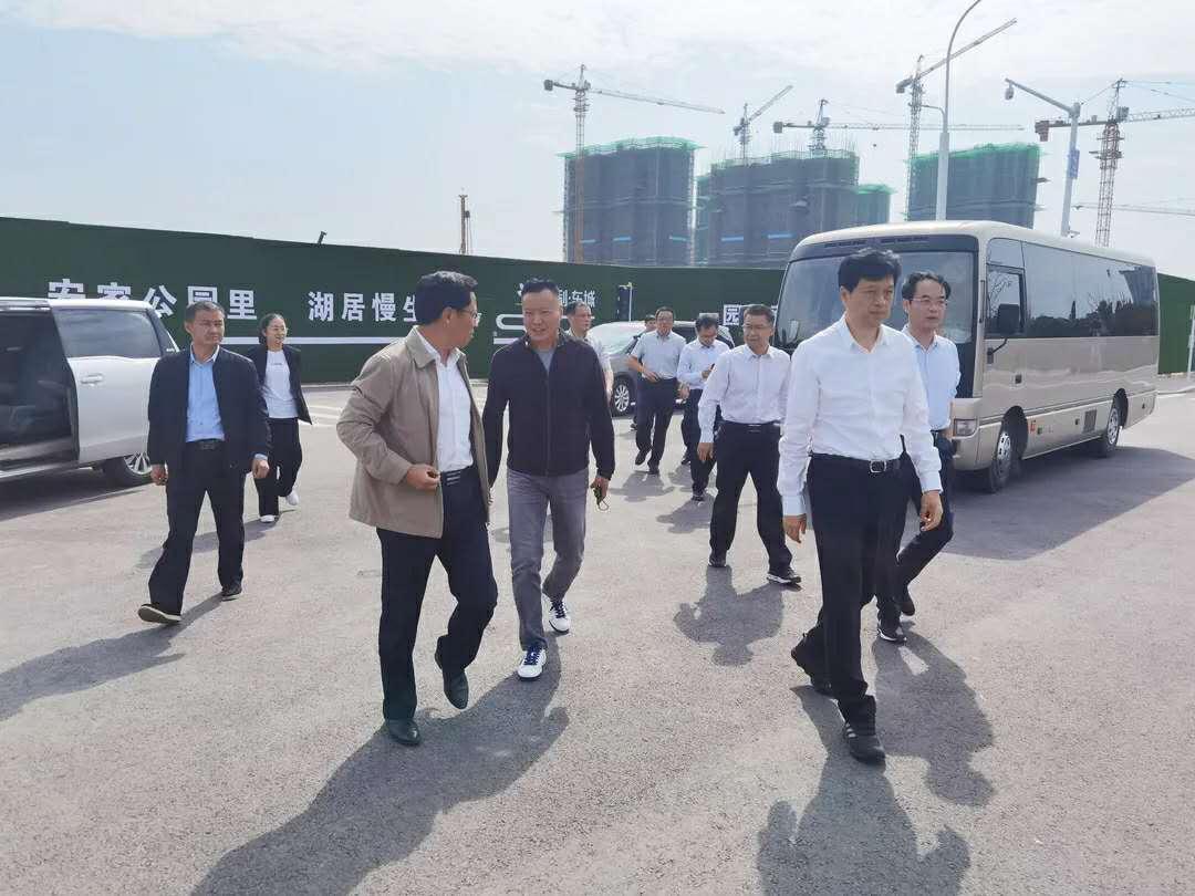 安徽省宿州市杨军市长一行莅临集团乐湖公园